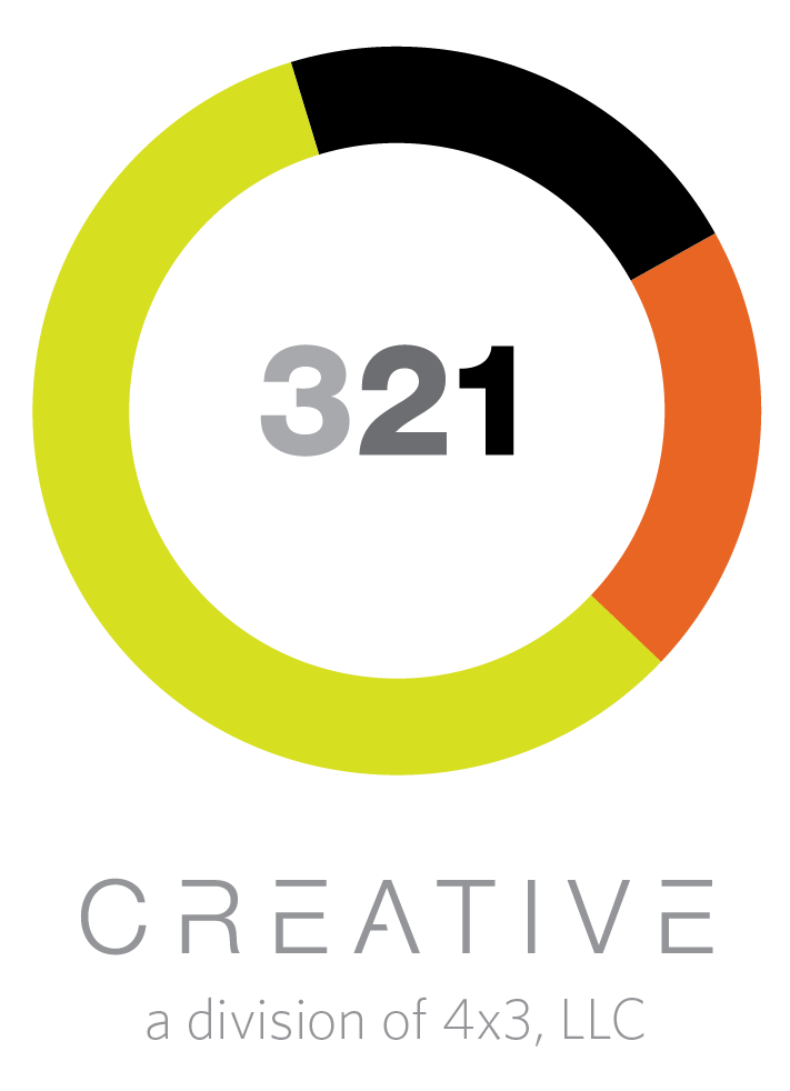 321 Creative logo in color