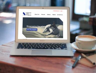 National Arts Program Foundation Website on MacBook