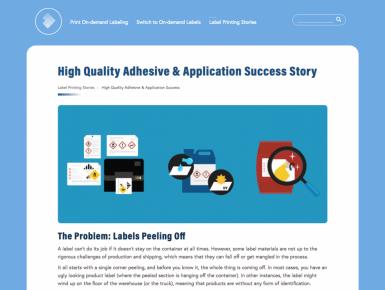 Print On-Demand microsite success