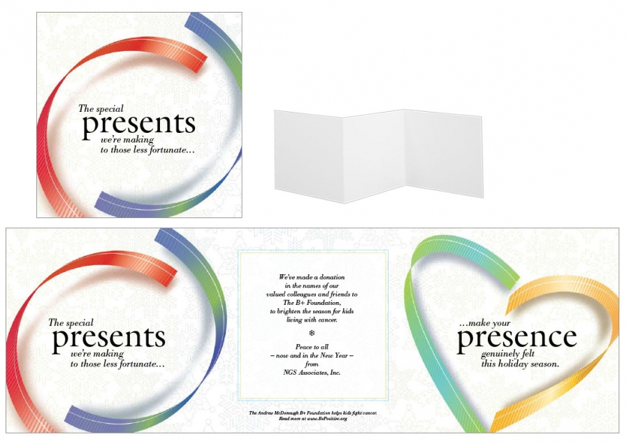 Custom Holiday Card, Ribbon Theme