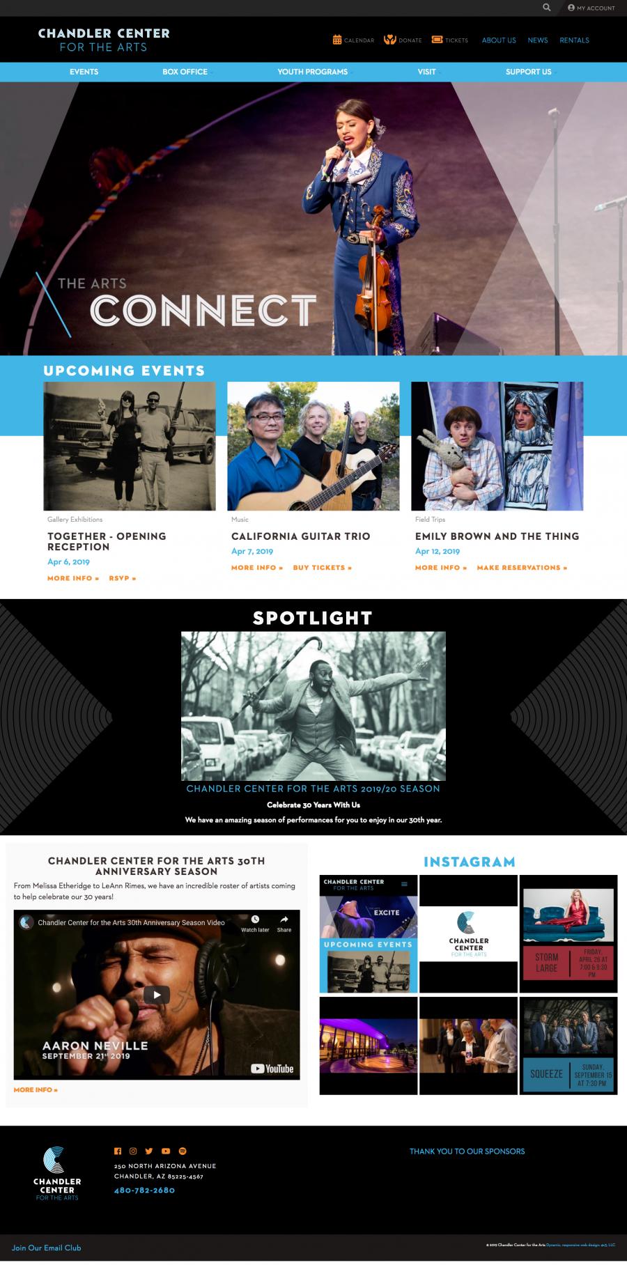 Chandler Website Homepage