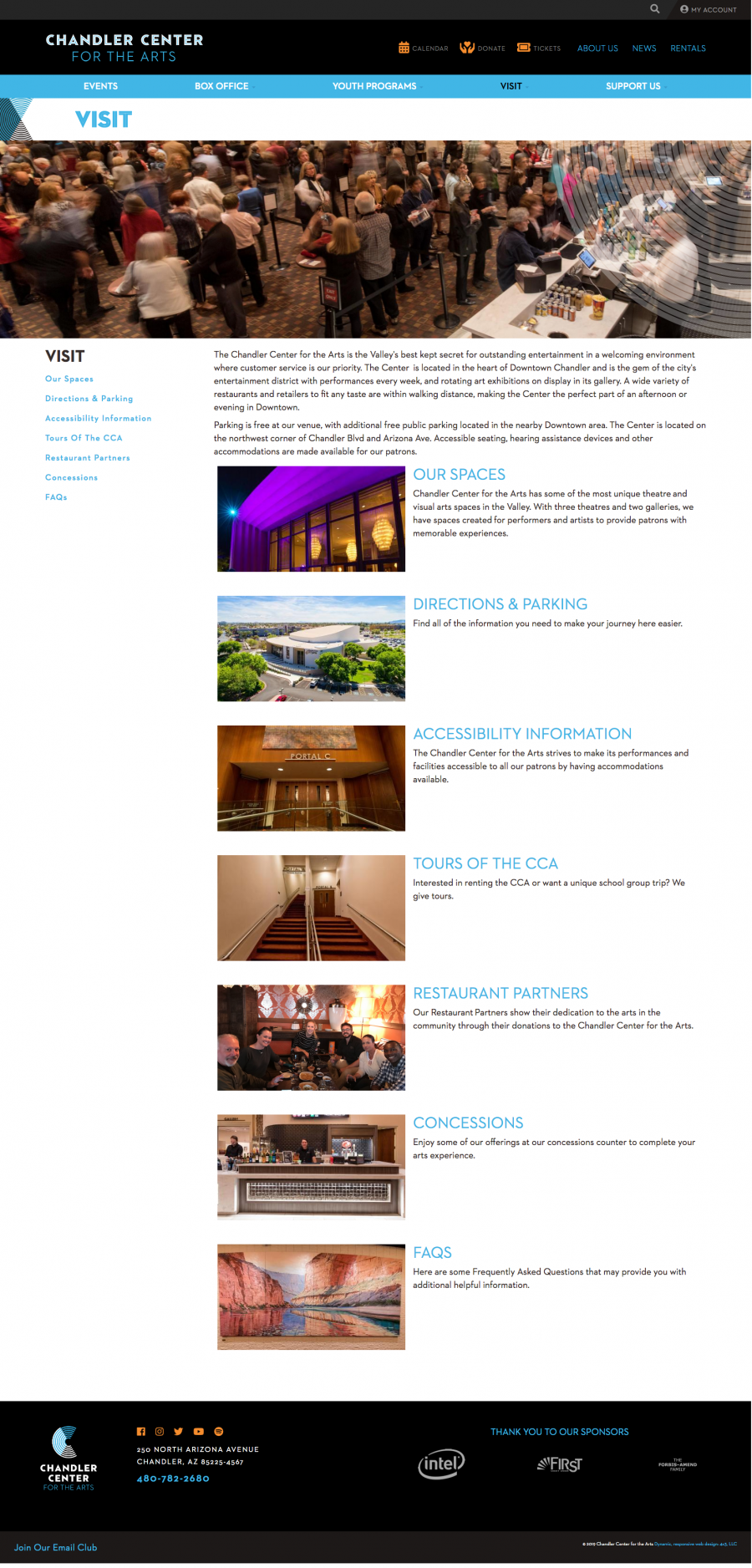 Chandler Website Visit Page