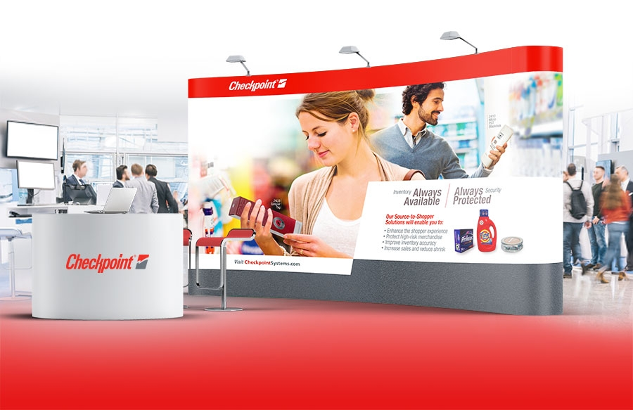 Checkpoint Systems Trade Show Banner and Booth