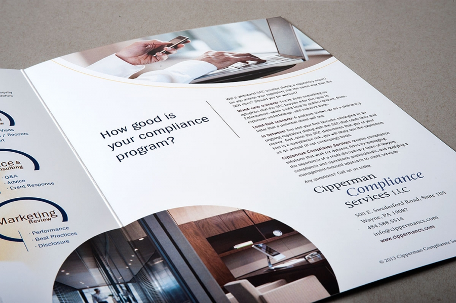 Cipperman Brochures, a grab-and-go format that they would take with them
