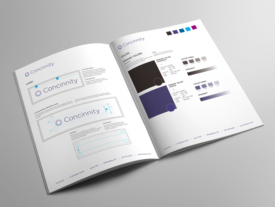 Concinnity Brand Manual, Interior Page 1