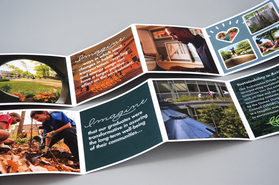 Print Design for Education of Sustainable Living Environments