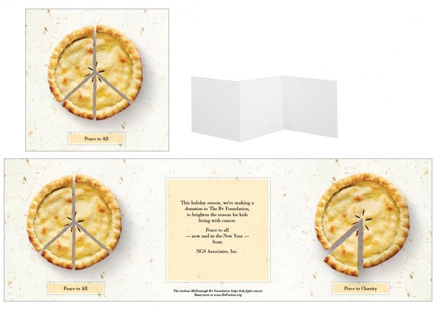 Custom Designed Christmas Card, Pie Theme