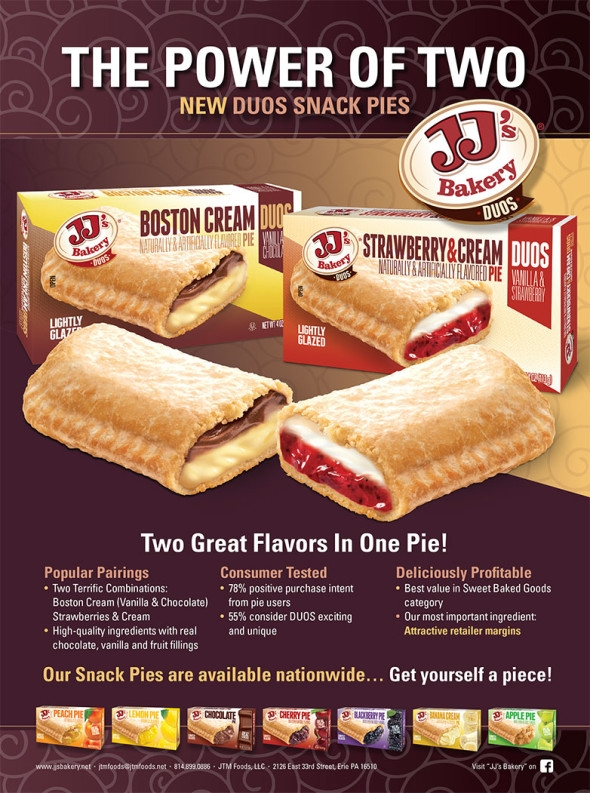 JJ's Bakery Duos, The Power of Two - Two Great Flavors in one Pie